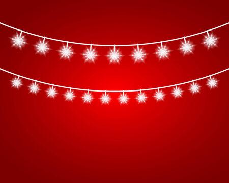 lights: Collection of Christmas Garland Lights. Vector