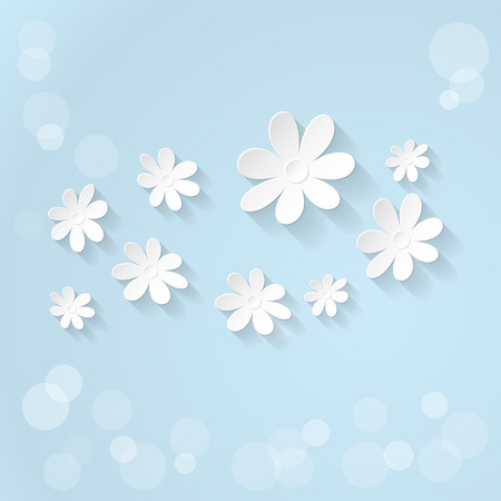 blue and white: Vector Floral background. Spring time Illustration