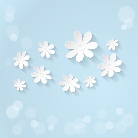 blue banner: Vector Floral background. Spring time Illustration