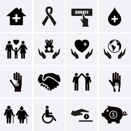 держась за руки: Благотворительность и помощи работы. Вектор Иллюстрация