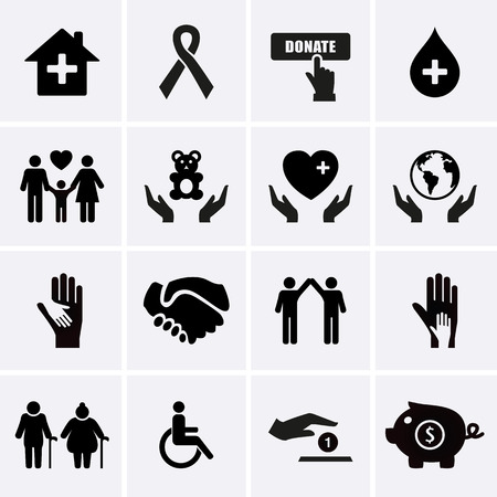 charity: Charity and Relief Work. Vector