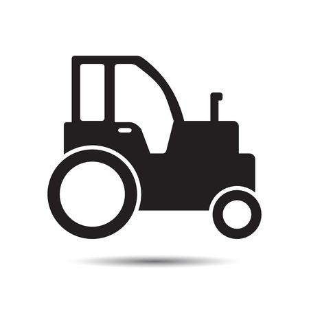 tractor sign: Farm tractor icon. Vector
