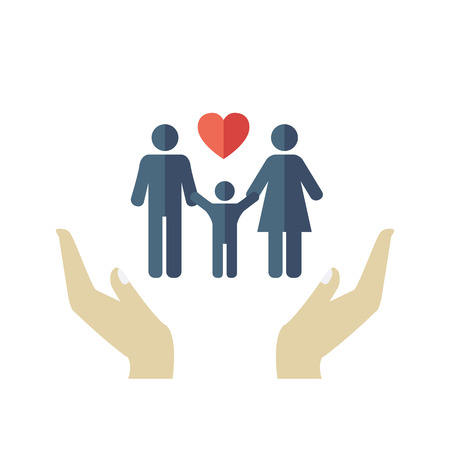 Family Design Icon in flat style. Vector Vector