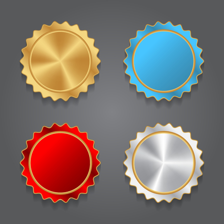 red and blue: Corolful Labels collection. Vector for design