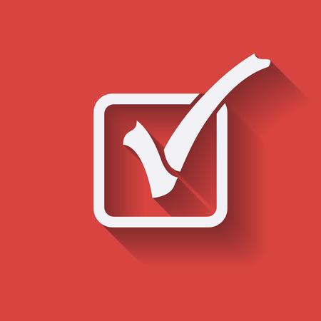 adjustment: Check List Icon. Check Mark in box. Flat icon