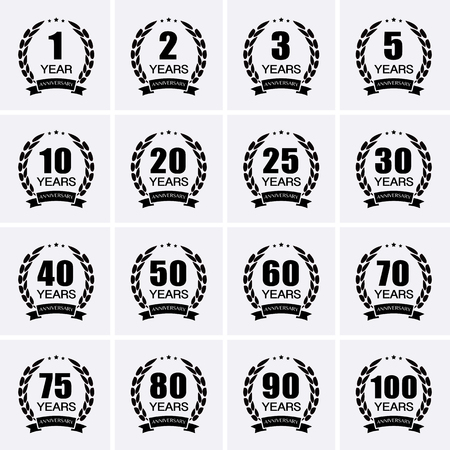 top 50 icon: Laurel wreath collection sign for anniversary. Vector for design Illustration