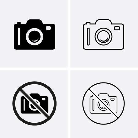 Foto oder Kamera-Icons. Vektor für Web Illustration