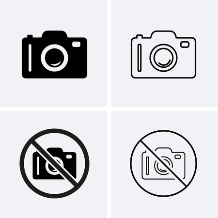 Photo or Camera Icons. Vector for web