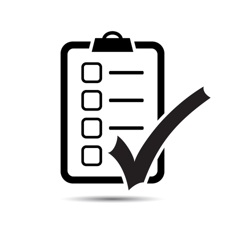 Check List Icon. Vector