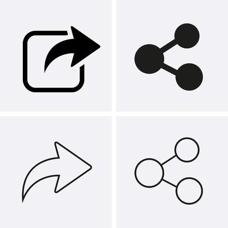 アイコンを共有します。Web のベクトル  イラスト・ベクター素材