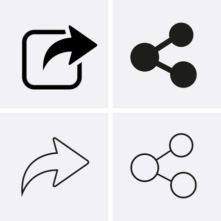 media equipment: Share Icons. Vector for web