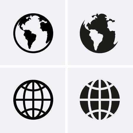 zeměkoule: Země světa ikony. Vektor