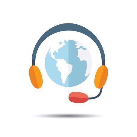 hotline: Hotline Support Icon. Flat design