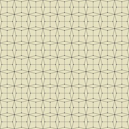 nodes: Seamless pattern with rhombus and nodes. Vector