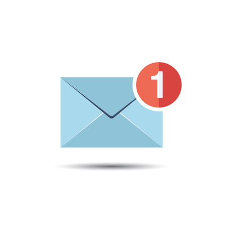 notification: Mail and Message Notification Icon. Flat style