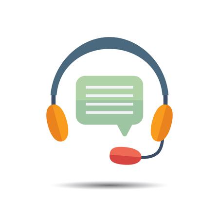 helpline: Hotline Support Icon. Flat design