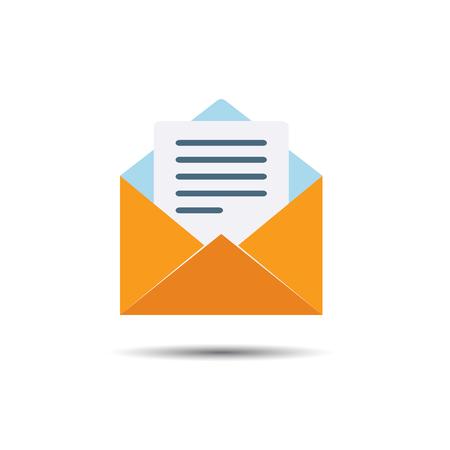 알림: Letter Notification Icon. Flat style 일러스트