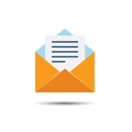 Letter Notification Icon. Flat style Illustration