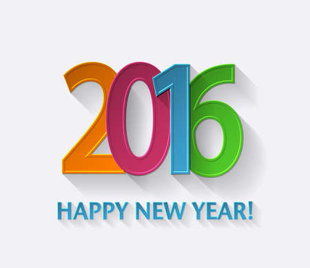 color of year: Happy new year 2016 color background. Vector for design Illustration
