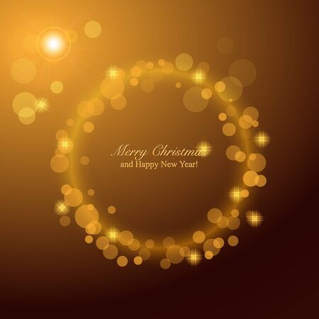 blurred lights: Christmas Background with blurred Lights. Shining circle