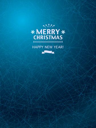 Weihnachtshintergrund mit eisigen blauen Muster. Weihnachten Grußkarten, Party und Poster.