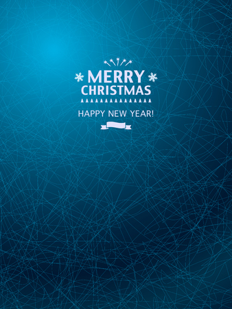 Christmas Background with icy blue pattern. Xmas Greeting Cards, Party and Posters.