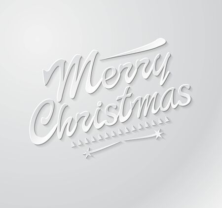 write a letter: Merry Christmas typography. Lettering