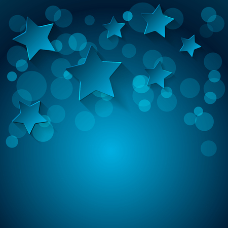 stelle blu: Blue stars background. illustration