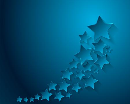 stars  background: Blue stars background. illustration