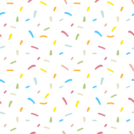 Confetti seamless pattern. Repeating pastel confetti background