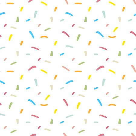 Confetti seamless pattern. Repeating pastel confetti background