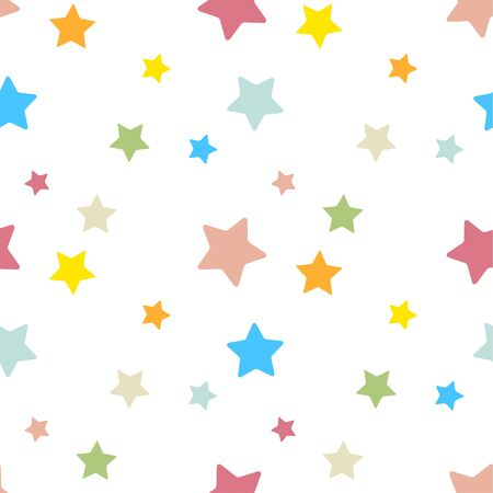 Star seamless pattern. Repeating pastel star background