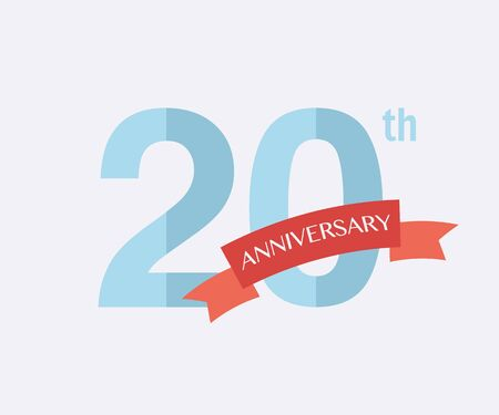 20th: 20th years Anniversary Icon. Vector logo for design