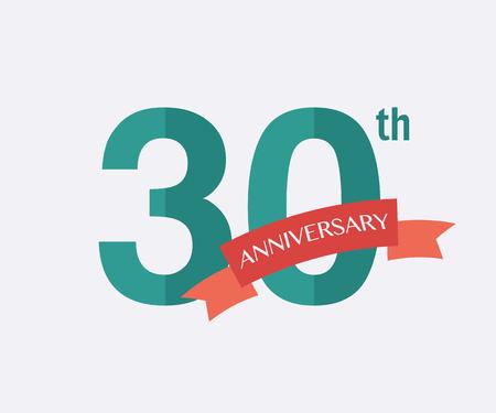 anniversaire: 30ème anniversaire ans icône. logo Vector pour la conception
