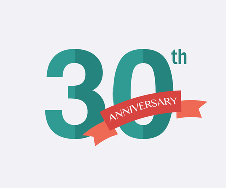 30th: 30th years Anniversary Icon. Vector logo for design