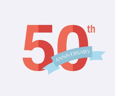 jubilees: 50th years Anniversary Icon. Vector logo for design