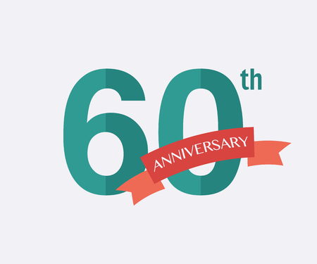 60th: 60th years Anniversary Icon. Vector logo for design Illustration