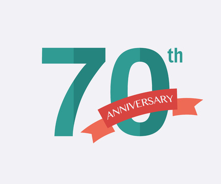 jubilees: 70th years Anniversary Icon. Vector logo for design