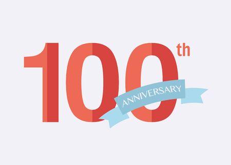 anniversaire: années 100e anniversaire icône. logo Vector pour la conception