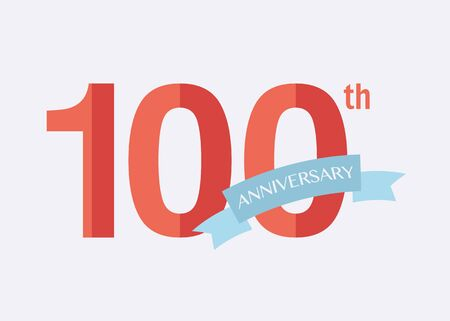 100th years Anniversary Icon. Vector logo for design