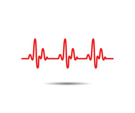 Heart cardiogram lines. Rhythm heart. Vector Illustration