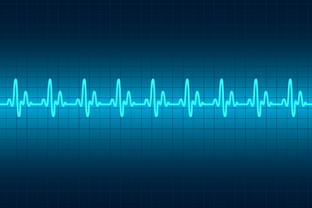 line graph: Heart cardiogram monitor. Rhythm heart. Vector