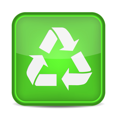 recycle sign: Recycling Button. Recycle Sign. Vector icon Illustration