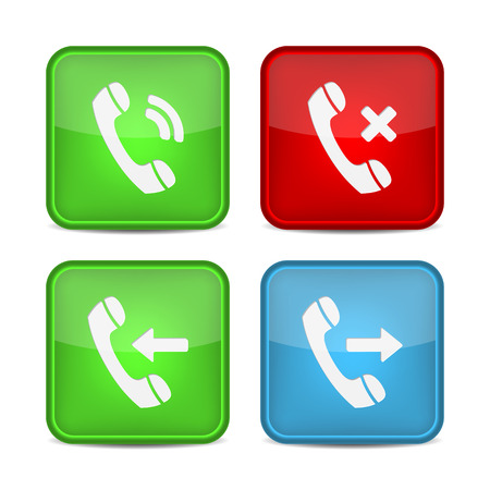 phone button: Phone Call Icons. Button contact. Vector for web