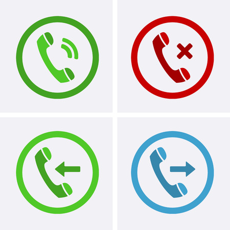 conversations: Phone Call Icons. Vector for web Illustration
