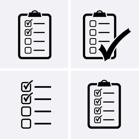 accepted: Check List Icons set. Vector