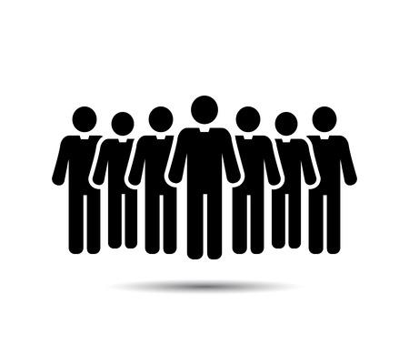 grupo de hombres: Iconos Del Hombre De Negocios. Iconos Del Equipo. Multitud de personas. Grupo de hombres (hombre de negocios). Vector