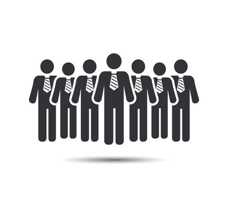 business man vector: Businessman Icons. Team Icons. Crowd of people. Group of men (business man). Vector Illustration