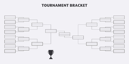 playoff: Tournament Bracket. Championship. Vector design Illustration
