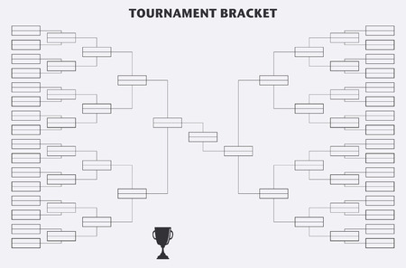 championship: Tournament Bracket. Championship. Vector design Illustration